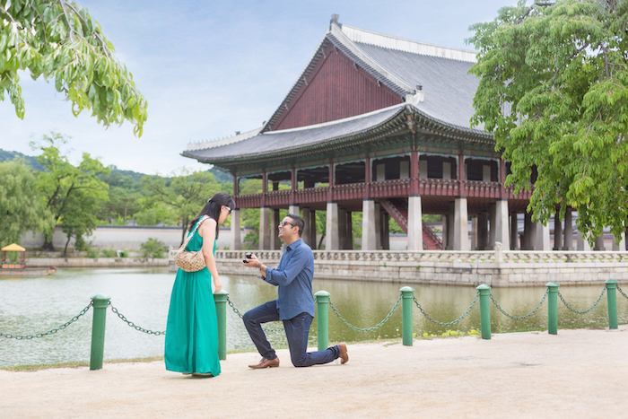 Proposal picture in Seoul