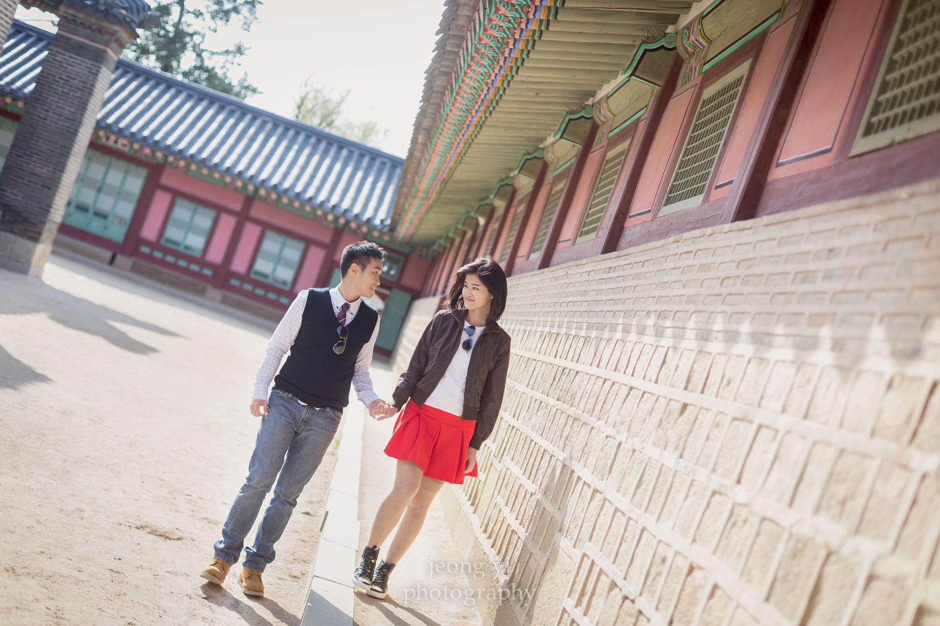 engagement photos in Korea
