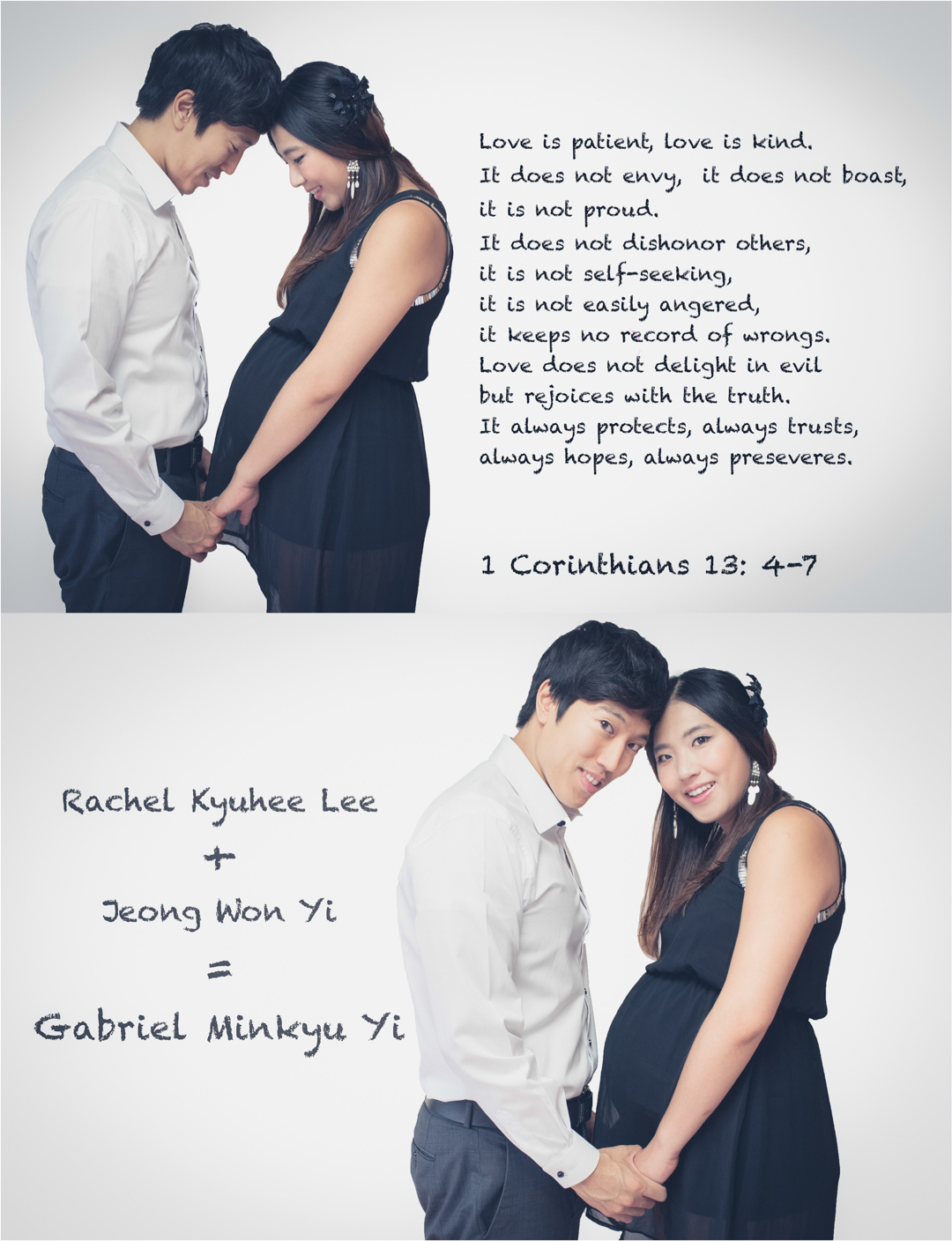 maternity photos in Korea